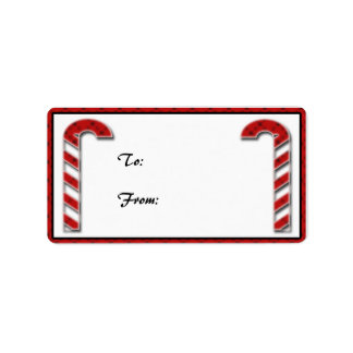Candycane Gift Tag