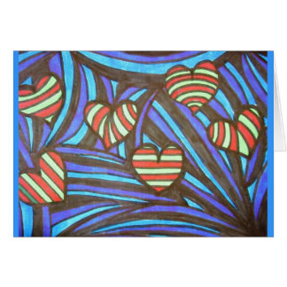 CandyCane Hearts Greeting Card