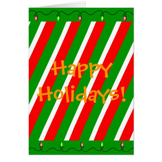 Candycane Holiday Card