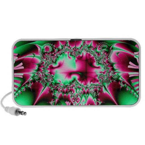Candycane Jester Fractal iPhone Speaker