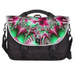 Candycane Jester Fractal Laptop Bag