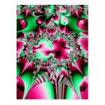 Candycane Jester Fractal Postcard