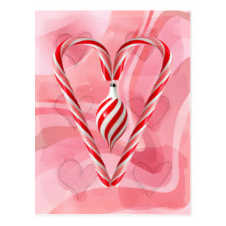 CANDYCANE & ORNAMENT by SHARON SHARPE Postcard