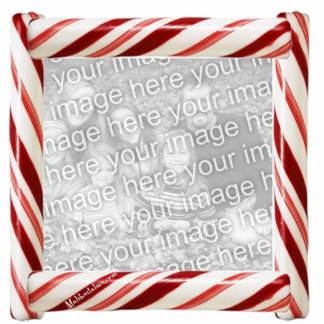 Candycane Photo Ornament Photo Sculpture Ornament