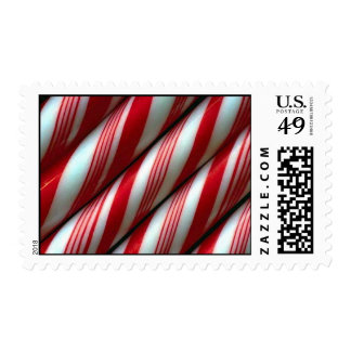 candycane postage stamp