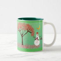 Candycane Tree - Two-Tone Coffee Mug