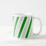 CandyCane verde Tazas De Café