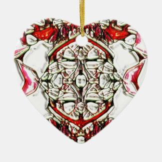 CandyCoded Adorno Navideño De Cerámica En Forma De Corazón