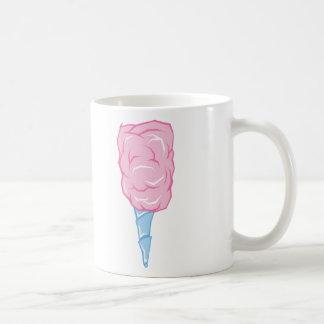 Candyfloss rosado taza básica blanca