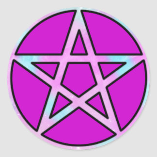 Candygram Pastel Pentagram Classic Round Sticker