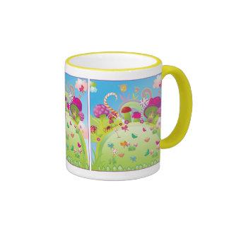 Candyland 1 (plantilla) taza de dos colores