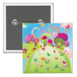 Candyland 2 Inch Square Button