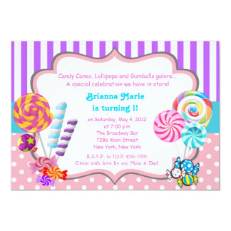 Candyland Theme Invitations Announcements Zazzle