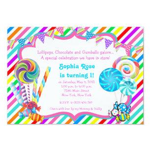 Candyland Invitations Zazzle