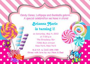 Lollipop invitations zazzle candyland candy theme birthday invitation filmwisefo