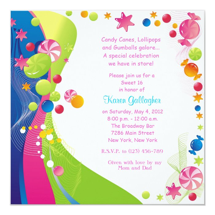 Sweet 16 Invitation Card for best invitation layout
