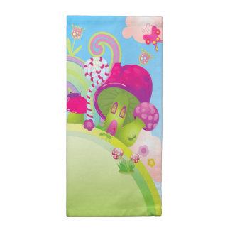 Candyland Fantasy Landscape - Rainbows & more! Cloth Napkin