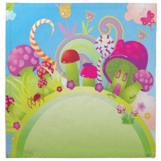 Candyland Fantasy Landscape - Rainbows & more! Napkin