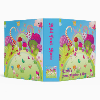 Candyland - For Notes, Clippings & More 3 Ring Binder