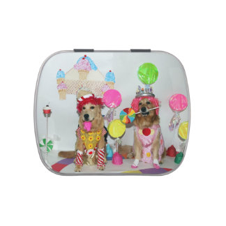Candyland Golden Retrievers Jelly Belly Tins