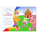 "Candyland Invite 5"" X 7"" Invitation Card"