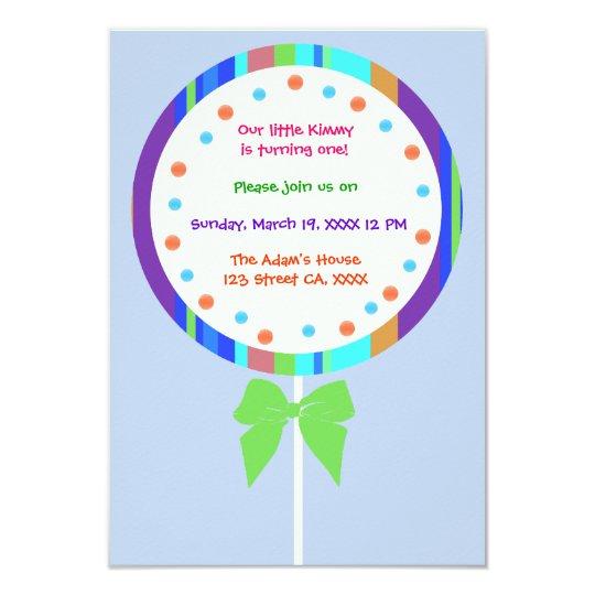 Candyland lollipop birthday invitations zazzle candyland lollipop birthday invitations filmwisefo