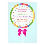 Candyland Lollipop Birthday Invitations