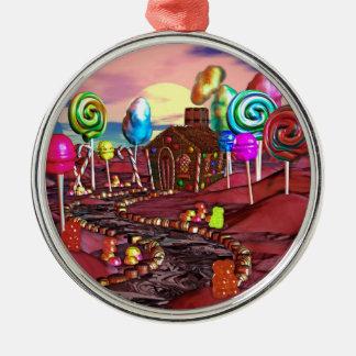 Candyland Metal Ornament