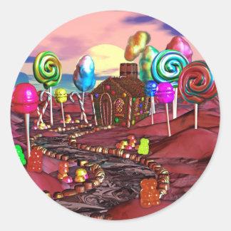 Candyland Pegatina Redonda