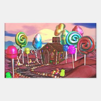 Candyland Rectangular Sticker