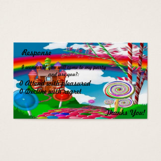 Candyland Response-Teenage Business Card