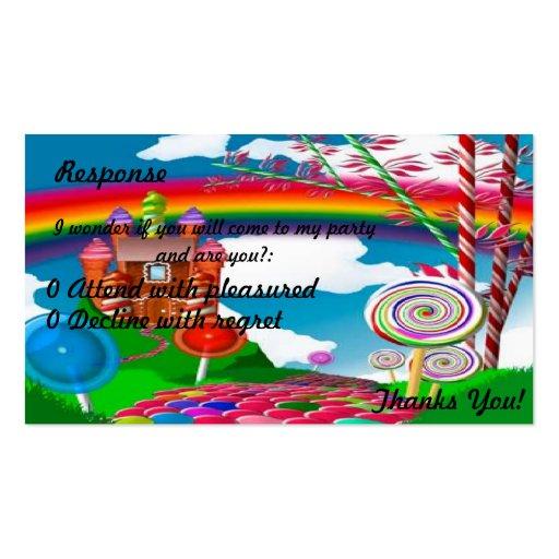 Candyland Respuesta-Adolescente Plantillas De Tarjeta De Negocio