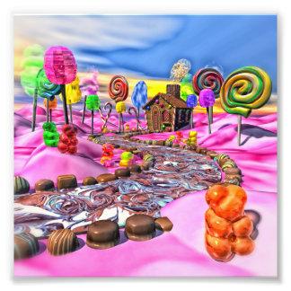 Candyland rosado cojinete