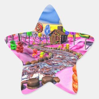 Candyland rosado pegatina en forma de estrella