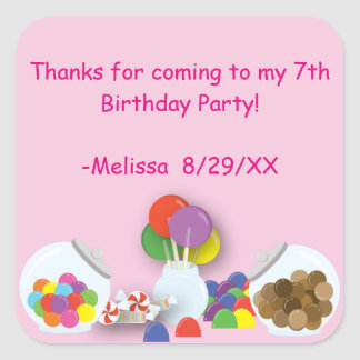 Candyland Sweets birthday Sticker