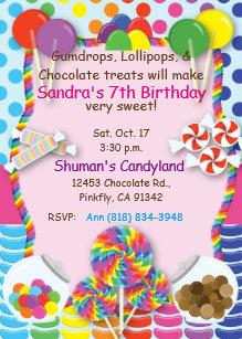 17 birthday invitations zazzle candyland sweets invitation stopboris Image collections