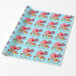 Candyland wrapping paper-blue