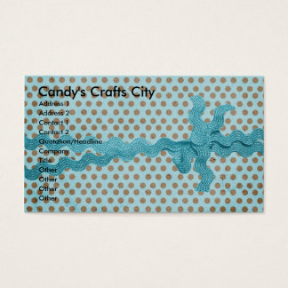 Candy's Crafts City Business Card