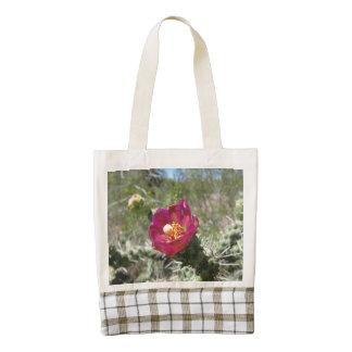 Cane Cholla Desert Flower Zazzle HEART Tote Bag