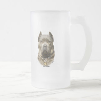 Cane Corso 8R060D-09 16 Oz Frosted Glass Beer Mug