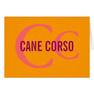 Cane Corso Breed Monogram Greeting Card