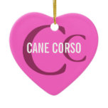 Cane Corso Breed Monogram Ceramic Ornament