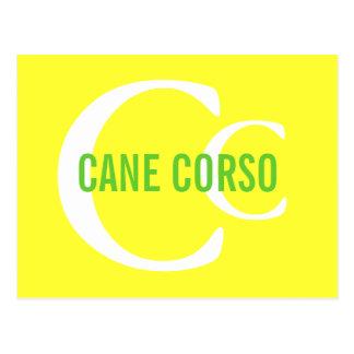 Cane Corso Breed Monogram Postcard