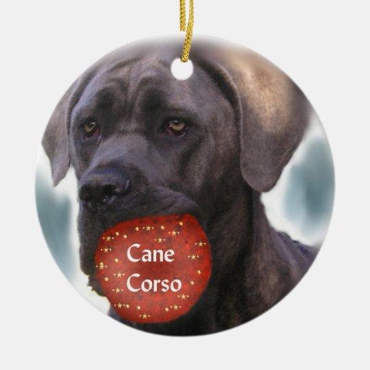 Cane Corso Christmas Ornament