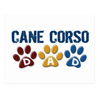 CANE CORSO Dad Paw Print 1 Post Card