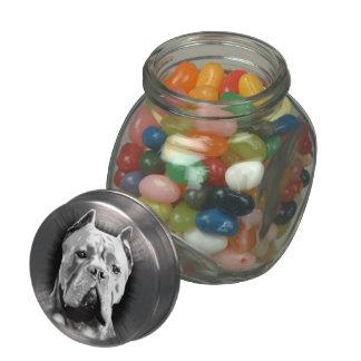 Cane Corso Dog Glass Candy Jar