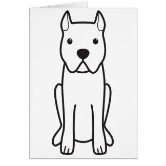 Cane Corso Dog Cartoon Card
