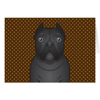 Cane Corso Dog Cartoon Paws Card