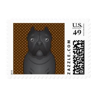 Cane Corso Dog Cartoon Paws Postage