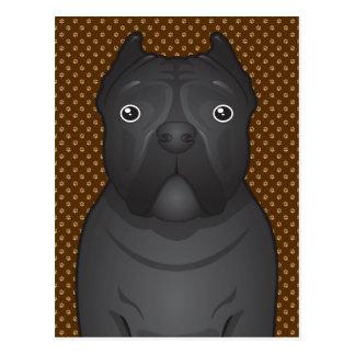 Cane Corso Dog Cartoon Paws Post Card